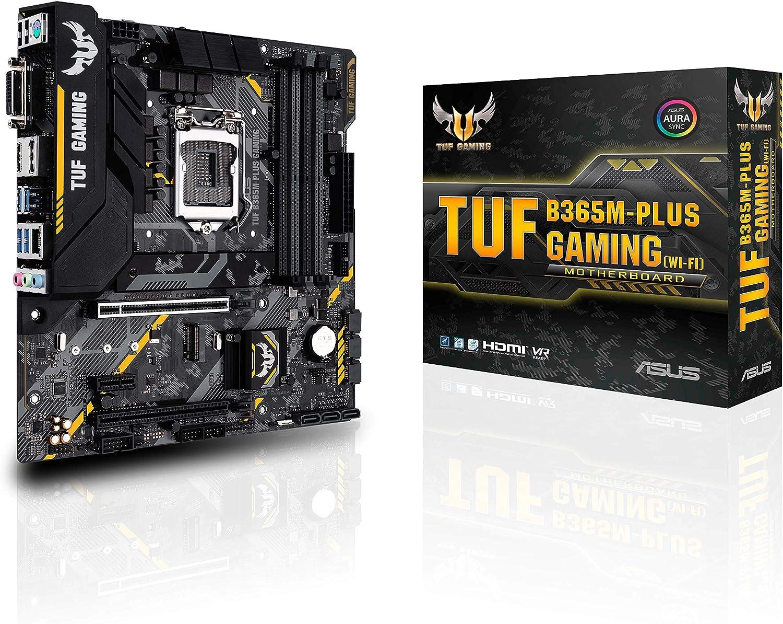 ASUS TUF B365M-PLUS Gaming LGA1151 DDR4 HDMI Wi-Fi M.2 mATX Motherboard