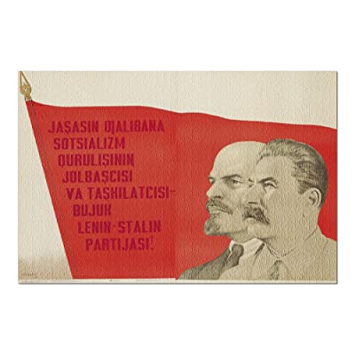 Zinda BOD Partijaji Kabiri Lenin Va Stalin Vintage Poster (Artist: Stenberg) Russia c. 1937 (Premium 1000 Piece Jigsaw Puzzle for Adults, 20x30, Made in USA!): Toys & Games