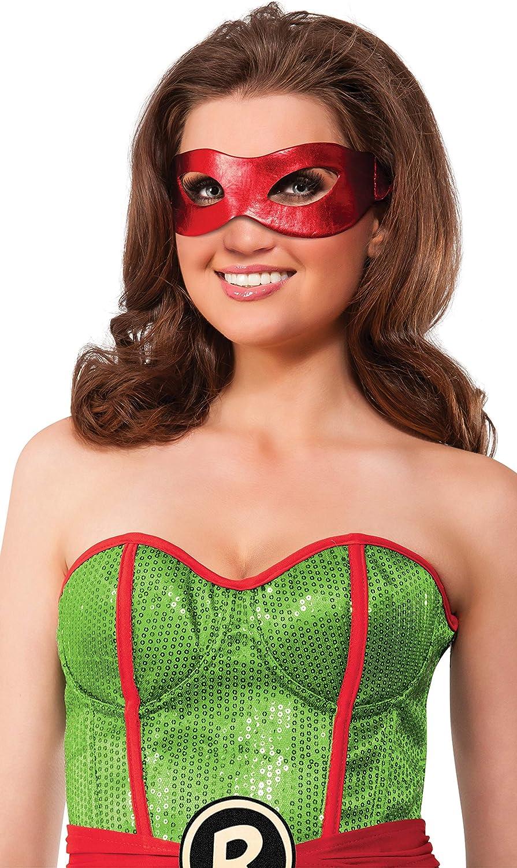 Rubies Womens Teenage Mutant Ninja Turtles Classic Raphael Eye Mask, Red, One Size