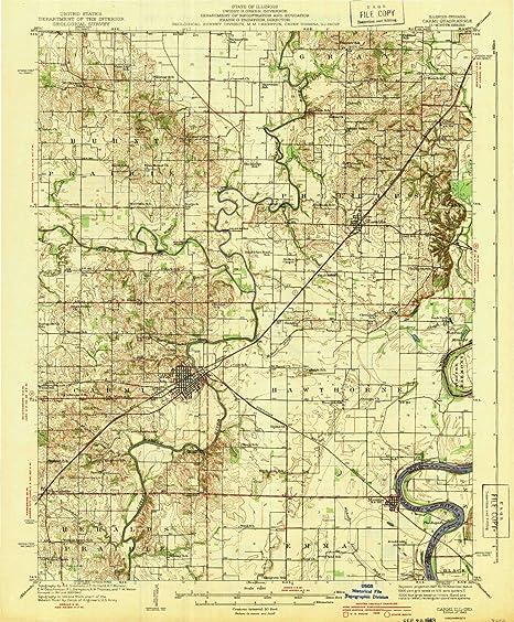 Amazon Com Yellowmaps Carmi Il Topo Map 1 62500 Scale 15 X 15