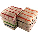 12 x Egyptian Cotton Tea Towels, Large Catering Grade Kitchen Tea Towels Dish Cloth By Olivia Rocco®