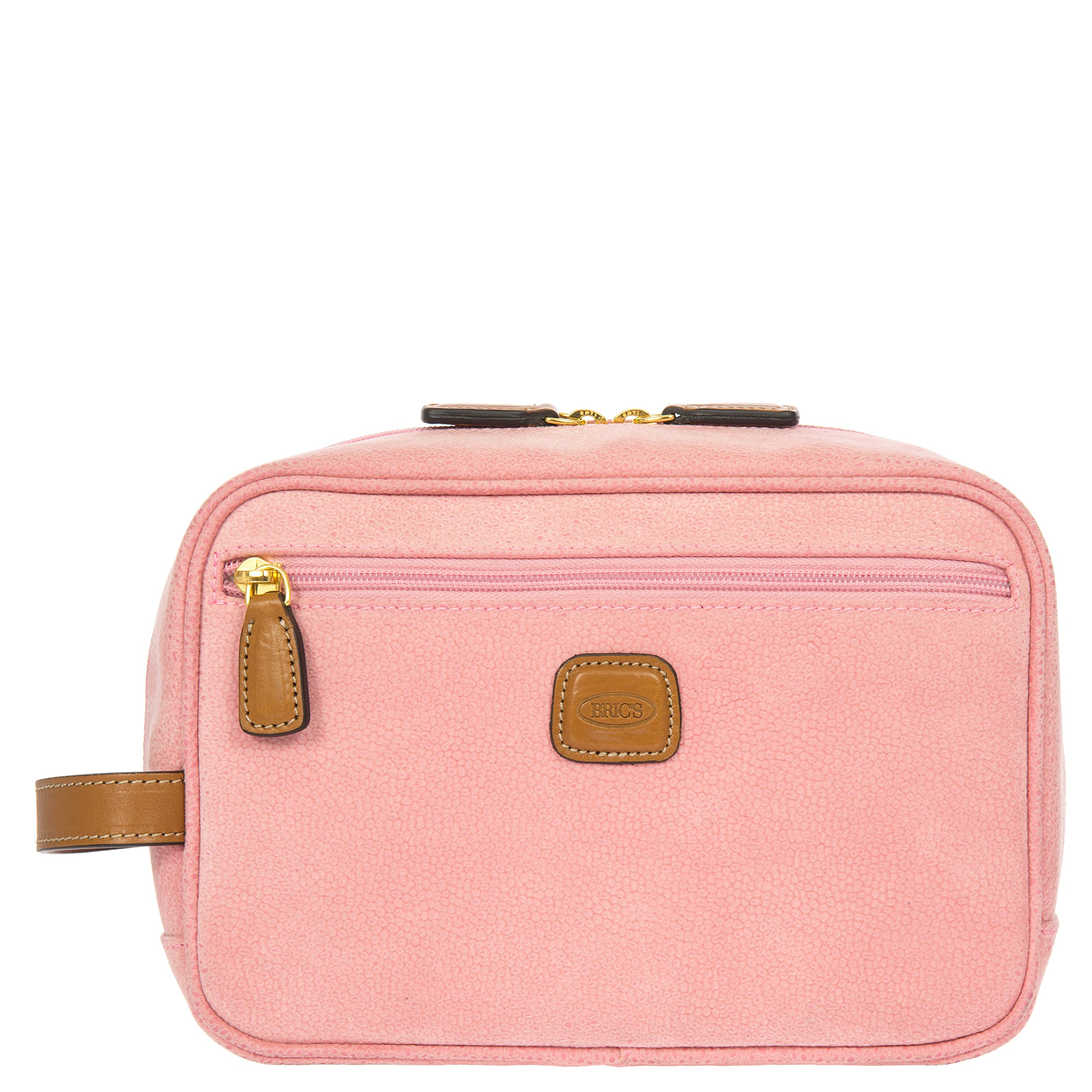 Bric's Women's Life Traditional Toiletry Dopp Kit Travel Shave Case, Pink