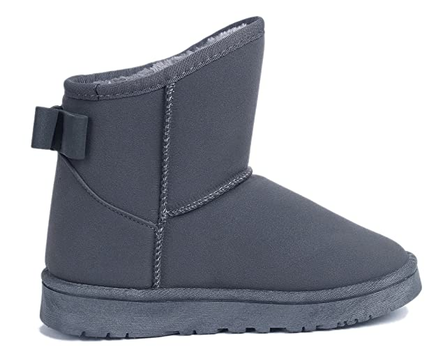 AgeeMi Shoes Botas Mujer Short Bow Classic Fur Lined Seguridad Nieve Botas: Amazon.es: Zapatos y complementos
