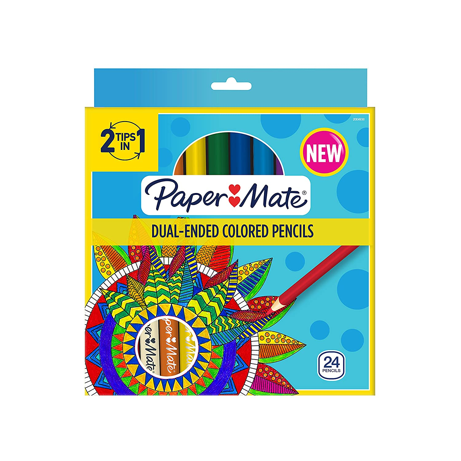 Paper Mate Dual Ended Colored Pencils, Assorted Colors, Pre Sharpened, 24 Count Newell Rubbermaid Office 2004930