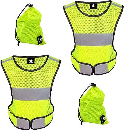 Night Running Vest Belt Bracelet Hi-Vis Safety High Visibility Reflective Jacket Fitness Clothing & Accessories