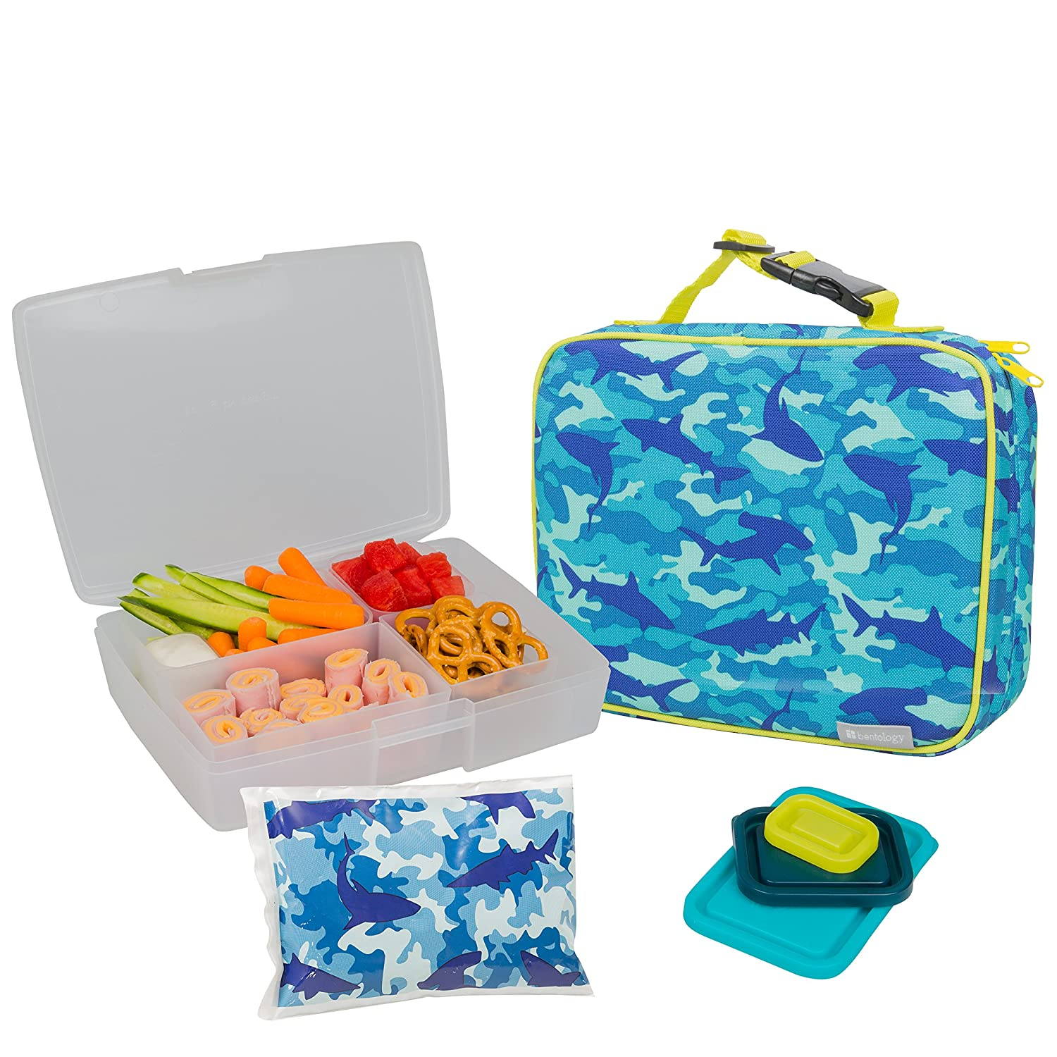bentology lunch bag and box set for boys includes insulated sleeve with ebay. Black Bedroom Furniture Sets. Home Design Ideas