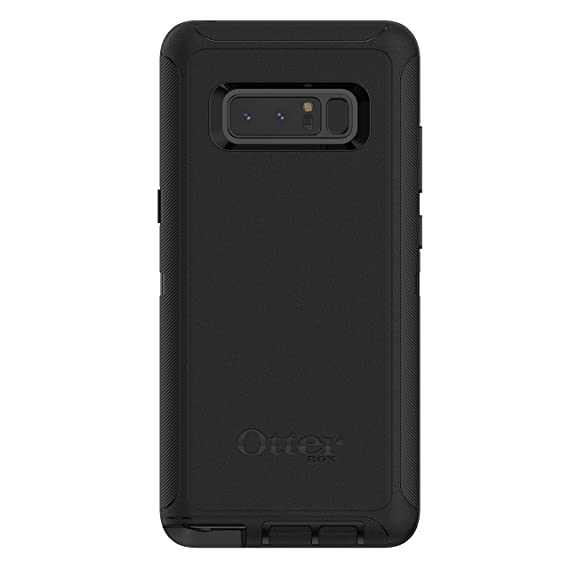 super popular c18a2 e589d OtterBox Defender Series Case and Holster for Samsung Galaxy Note 8 - Black  (Renewed)