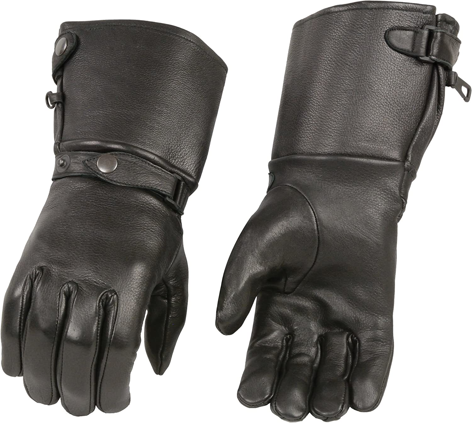 Men/'s USA Deerskin Leather Thermal Lined Gauntlet Glove w// Wrist Strap