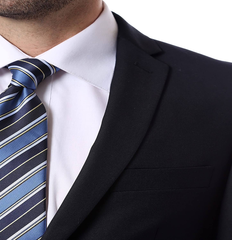 Ferrecci 36S Mens 2pc 2 Button Regular Fit Navy Suit