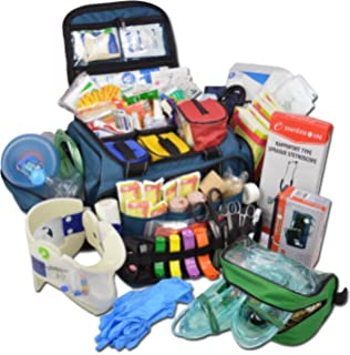 Lightning X Extra Large Medic First Responder EMT Trauma Bag Stocked First Aid Deluxe Fill Kit