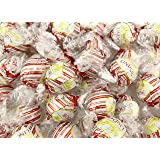 Sunny Island Lindt Lindor White Chocolate Peppermint Truffles, White Red Wrap Candy Bulk - 2 Pound Bag (65 Count)
