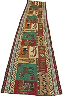 Mountain Life Southwestern Mountain Design Table Runner 13x72 Inches