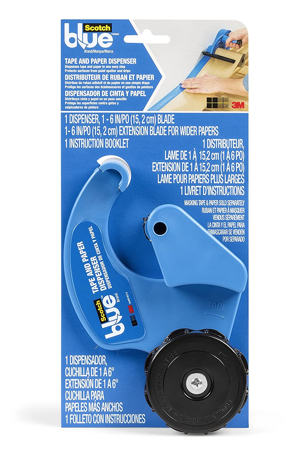 Scotchblue Masking Tape And Paper Dispenser M1000 Sbn Masking