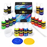 Magicfly Epoxy Resin Pigment, 16 Color Translucent & Pearlescent Liquid Resin Dye, Highly Concentrated Colorant for UV Resin,