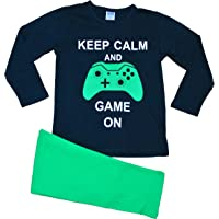 "ThePyjamaFactory Pijama largo con texto en inglés ""Keep Calm and Game On"", de 9 a 16 años"
