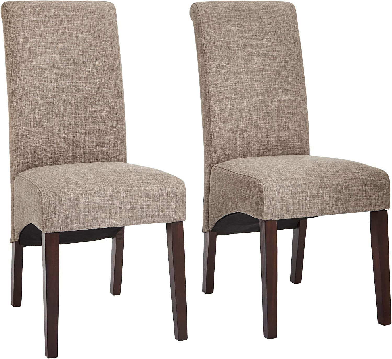Red Hook Coimbra Upholstered Parsons Dining Chair – Set of 2, Beautiful Beige