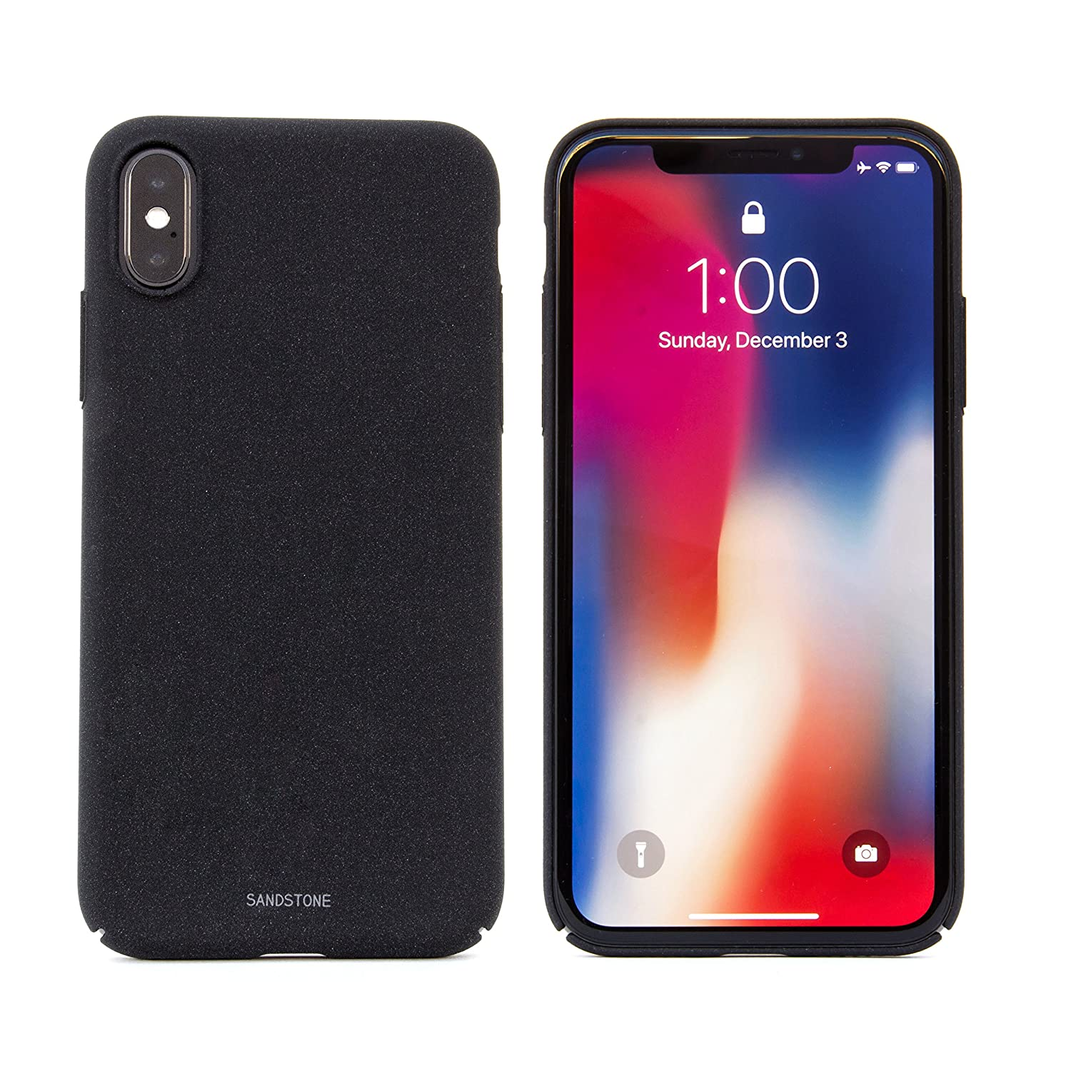 quality design cf443 fad19 SANDSTONE iPhone X Case with Thin High Friction Non: Amazon.in ...