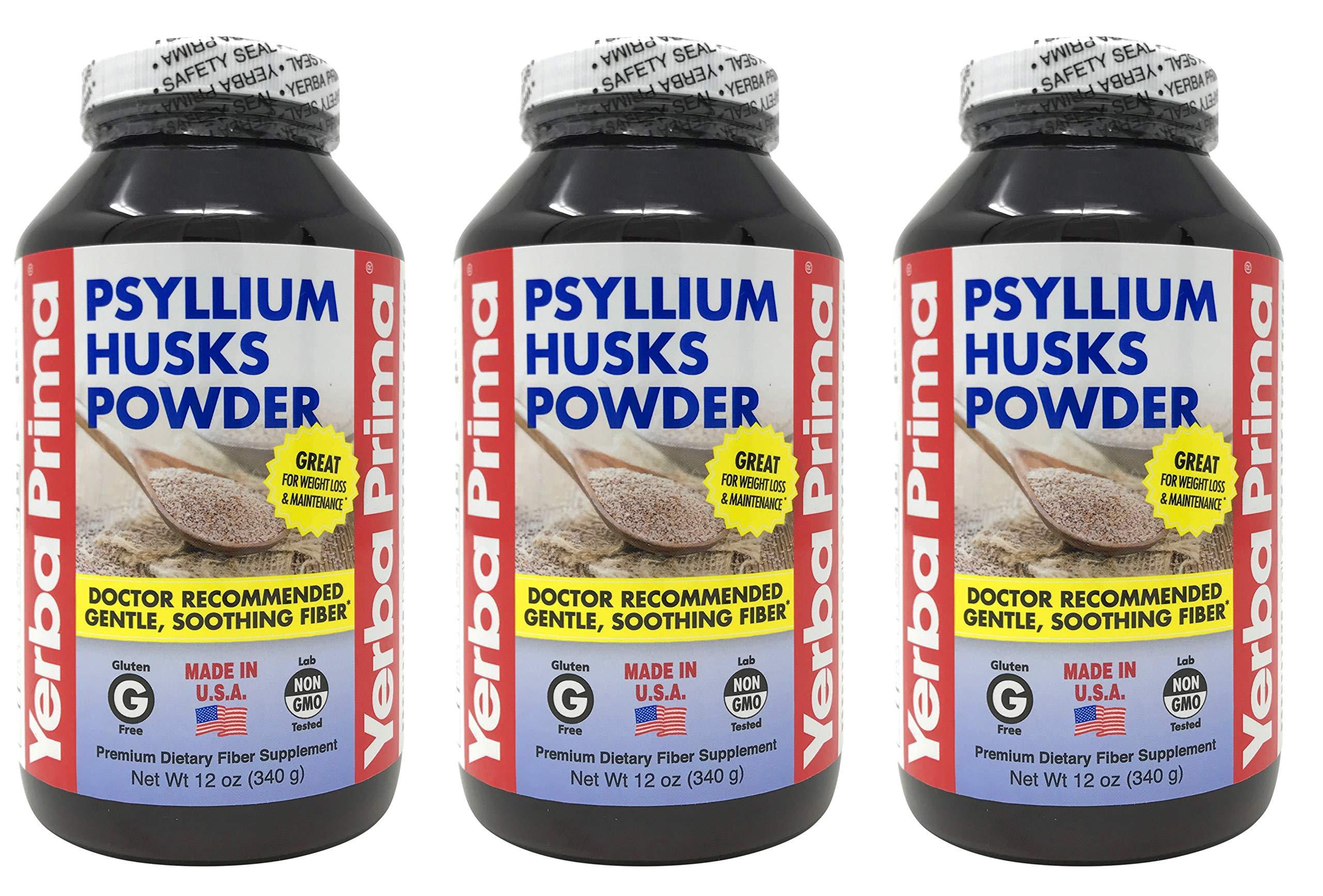 Yerba Prima Psyllium Husks Powder, 12 OZ 3 pk by Yerba Prima
