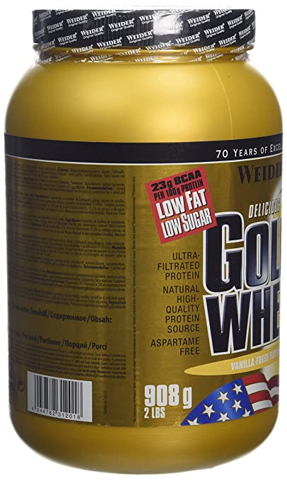 Amazon.com: Weider Vanilla 908g Gold Whey by Weider: Health & Personal Care