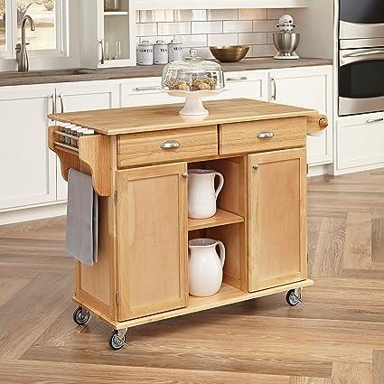 Home Styles 5099 95 Napa Kitchen Center, Natural Finish