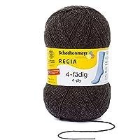REGIA 4-fädig Uni 9801268 Handstrickgarn, Sockengarn, 100g Knäuel