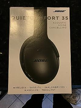 Bose QuietComfort 35 cancelación de Ruido Auriculares inalámbricos, Color Negro: Amazon.es: Electrónica