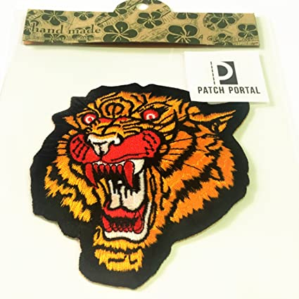 TIGER HEAD FIGHT  EMBROIDERED CLOTH SEW IRON ON MORALE PATCH BADGE JACKET