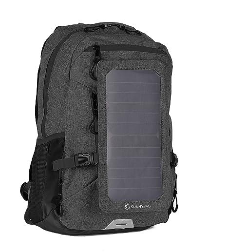 f934c85973 SunnyBAG Explorer+, Zaino Solare con Pannello Solare Integrato da 6Watt,  Impermeabile e Resistente,