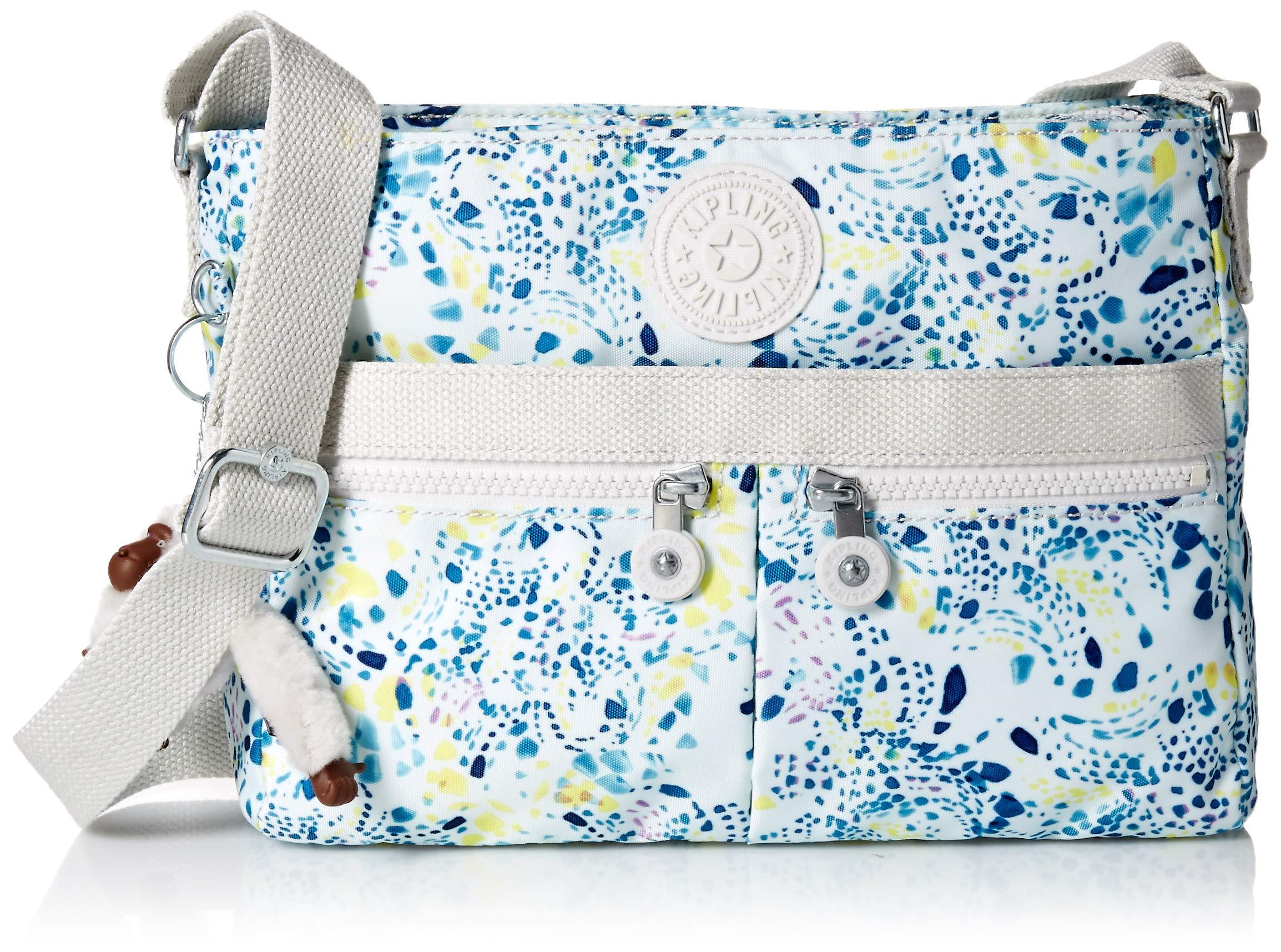 Kipling Women's Angie Crossbody Bag, Adjustable Shoulder Strap, Zip Closure, Delicate Vines