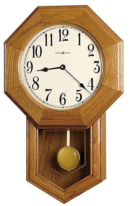 Amazon Com Howard Miller 625 242 Elliott Wall Clock Home Kitchen