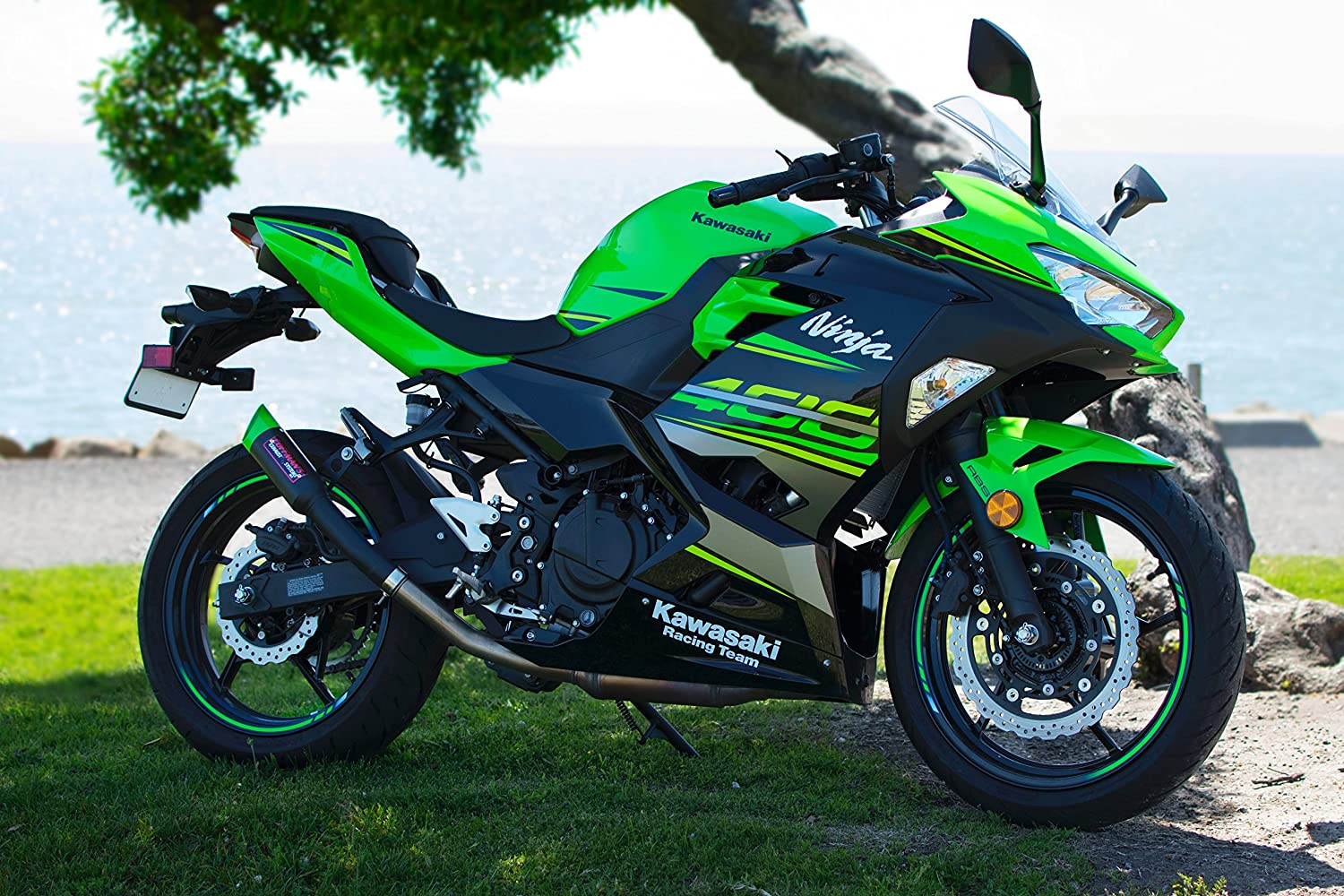 Amazon.com: Coffmans Shorty Escape para Kawasaki Ninja 400 ...