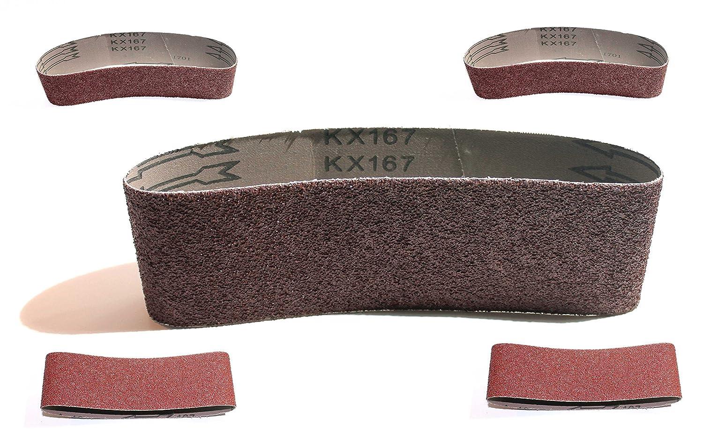 grain 240/pour Ponceuse /à bande bande abrasive pour le commerce /übliche pon/çage bande Appareils 10/x de tissus Bandes abrasives 75/x 533/mm