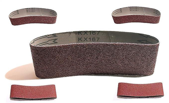 5 Gewebe-Schleifbänder 75 x 533 mm Korn 120 Schleifpapier Schleifband