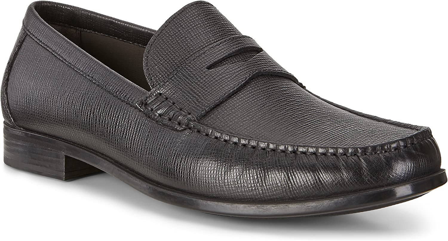 TALLA 40 EU. ECCO Dress Moc, Mocasines para Hombre