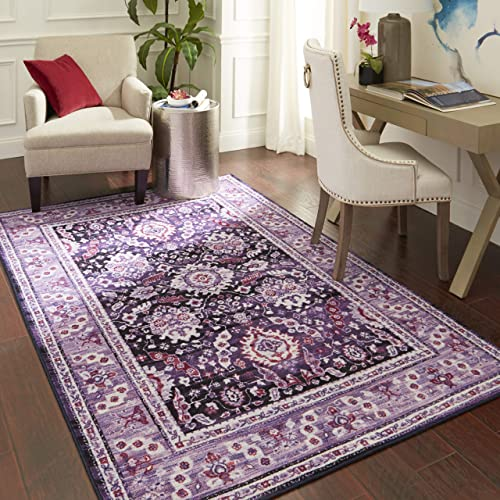 Mohawk Home Marshall Purple Area Rug, 5 x8 ,