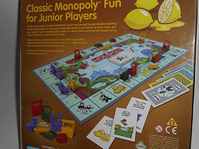 Monopoly Junior Lemonade by Parker Brothers, Board Games