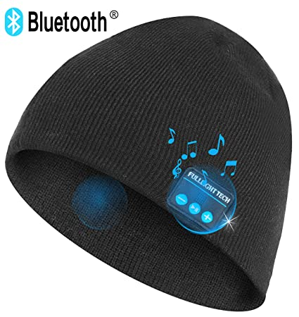 Upgraded V4.2 Bluetooth Beanie Hat Headphones Wireless Headset Winter Music  Speaker Hat Knit Running 63d88092ad65