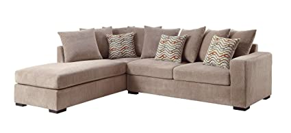 Pleasing Amazon Com 1Perfectchoice Olson Sectional Sofa Reversible Onthecornerstone Fun Painted Chair Ideas Images Onthecornerstoneorg