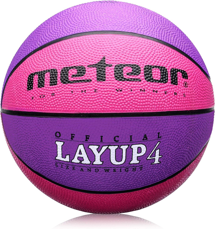 meteor Balón Baloncesto Talla 4 Pelota Basketball Bebe Ball Infantil Niño Balon Basquet - Baloncesto Ideal para los niños y jouvenes para Entrenar y Jugar - Tamaño 4 Layup: Amazon.es: Deportes y aire libre