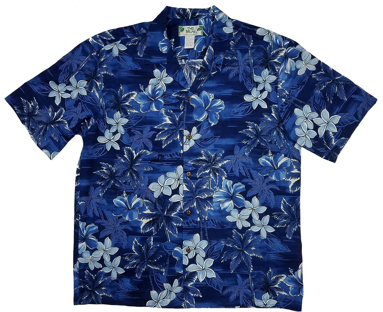 Two Palms Mens Blue Hawaii Shirt