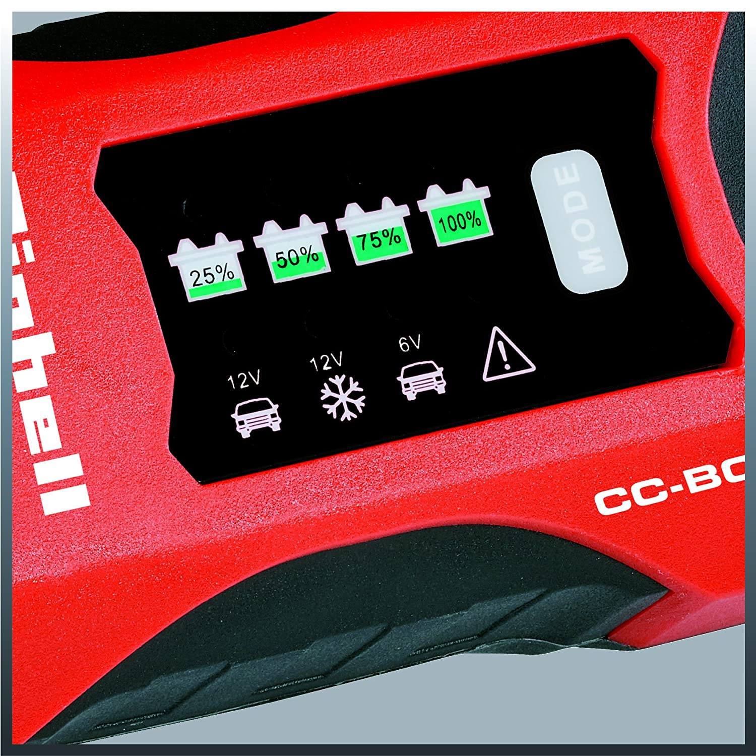 Einhell CC-BC 2 M Battery Charger for 3 to 60/Ah Batteries Charging Supply 6/V 12/V Winter Charge Mode LCD Battery Voltage /& Charging Progress Display