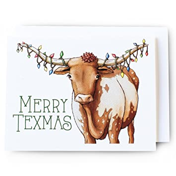 Christmas Longhorn Cards Set // 8-pack Premium Matte Textured Cards with  Felt Envelopes - Amazon.com: Christmas Longhorn Cards Set // 8-pack Premium Matte
