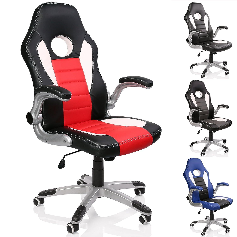TRESKO Silla de oficina Racing Gaming silla de escritorio ordenador giratoria sillón