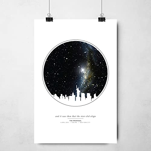 Amazon.com: Personalized Star Map Unframed Print | Night Sky Print