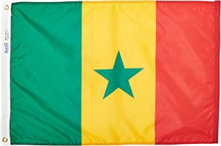 product image for Annin Flagmakers Model 197248 Senegal Flag Nylon SolarGuard NYL-Glo, 2x3 ft, 100% Made in USA to Official United Nations Design Specifications