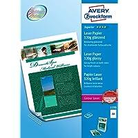 Avery - 1198 - 200 Feuilles de Papier Photo Supérieur Blanc Brillant 120g/m² . A4 - Impression Laser