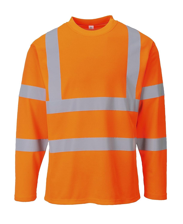 3 XL /T-shirt haute visibilit/é /à manches longues orange Portwest S278/