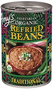 Amy's Organic Vegetarian Traditional Refried Beans, Gluten Free, 15.4 oz.