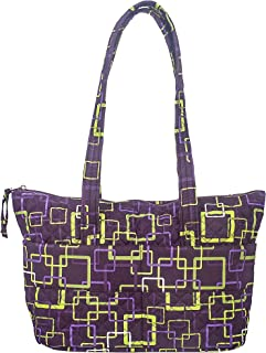 product image for Zip Tote by Stephanie Dawn, Made in USA, Quilted Cotton Fabric, Full Zipper Closure, Handcrafted, Reusable, Washable