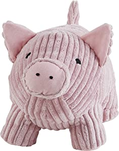 Morgan Home Premium Decorative Door Stopper – Cute & Funny Animal Door Stop Holders for Any Room – Plush Floor Door Stoppers Available in Many Cute Designs – Approx. 12 x 9 x 8 Inches (Pink Pig)